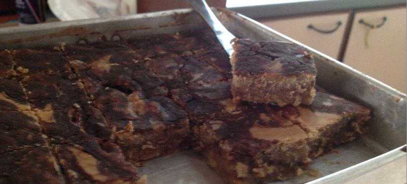 Chocolate Marble Swirl Banana Brownies and Chin-Chin (2/5)