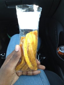 Plantain chips! One of my favorite snacks! (Hi! ChubbyDija here. They are also the cause of her expanding thighs...)