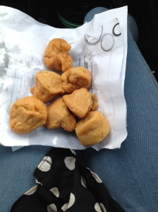 Akara bought on the road trip.