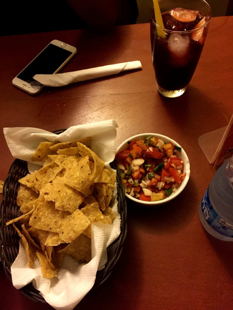 Chips and Salsa. That's Chapman in the background by the way.