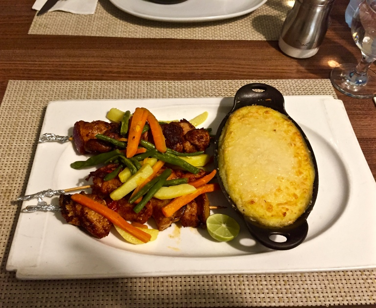 mixed grill + shepherd pie